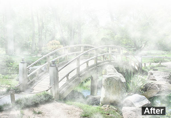 Fog Effect Photoshop Actions Template