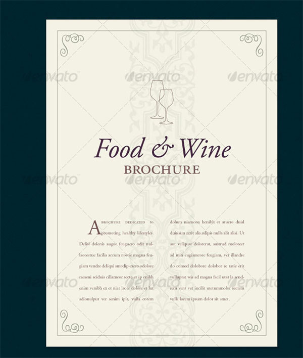 Food & Wine Brochure Template