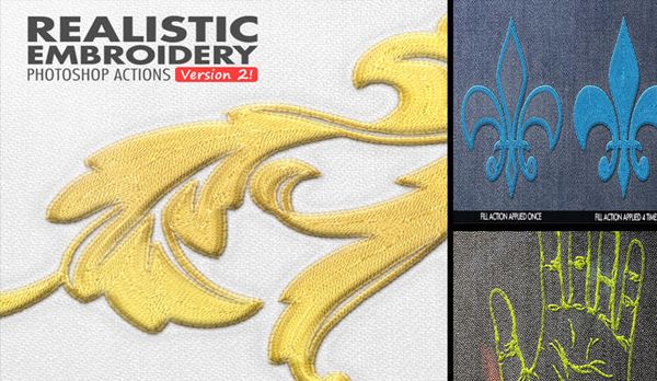 Free Download Realistic Embroidery Photoshop Actions