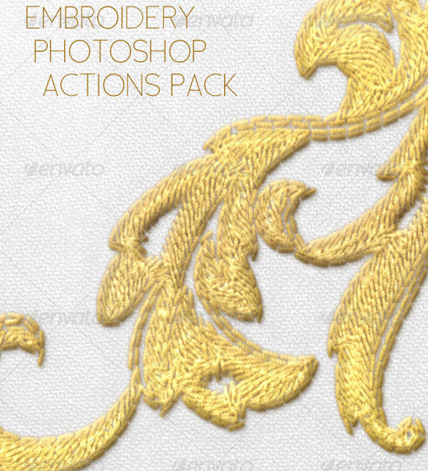 Free Realistic Embroidery Photoshop Actions