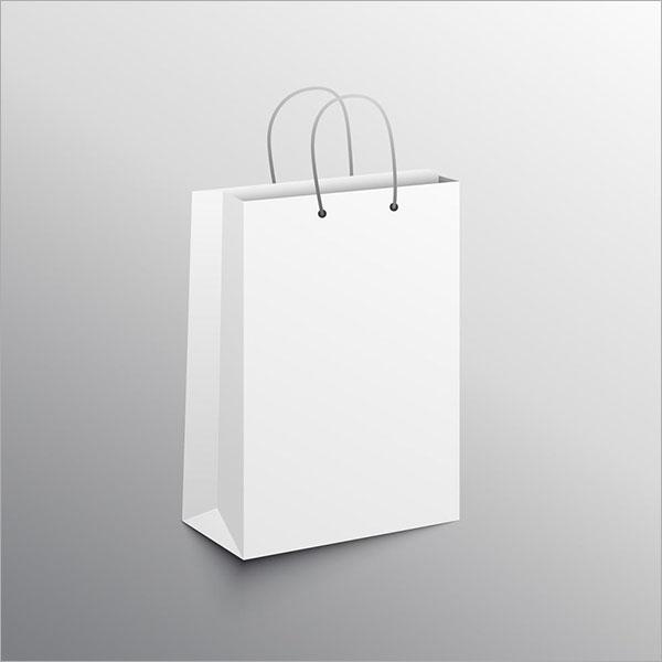 Free Vector Empty Shopping Bag Mockup