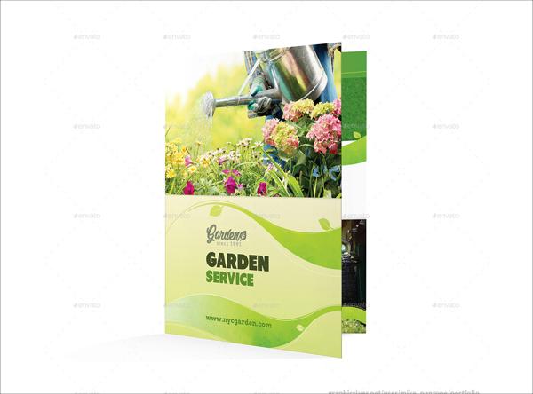 Garden Service Bifold and Halffold Brochure