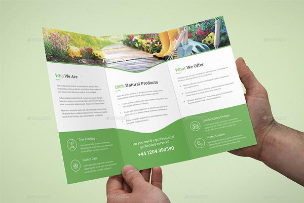 Gardening Service Brochure Design
