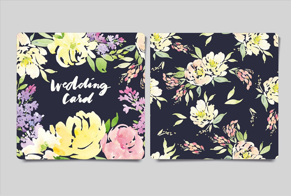 Greeting Card and Flower Pattern Design