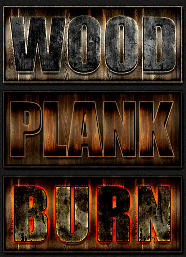 Grunge Wood, Rust, Nature Layer Styles
