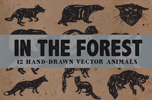Hand Drawn Forest Logo Templates