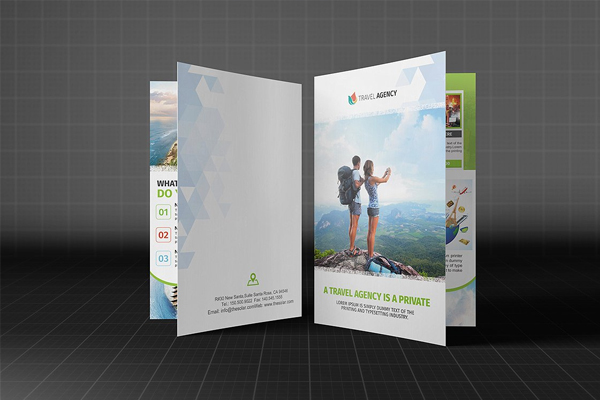 Holiday Travel Agency Bifold Brochure Template