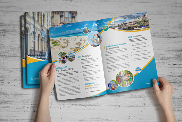 Holiday Travel Bifold & Trifold Brochure Design