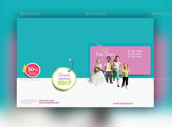 Kids Store Magazine Template