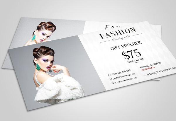 Massage and Fashion Gift Voucher Template