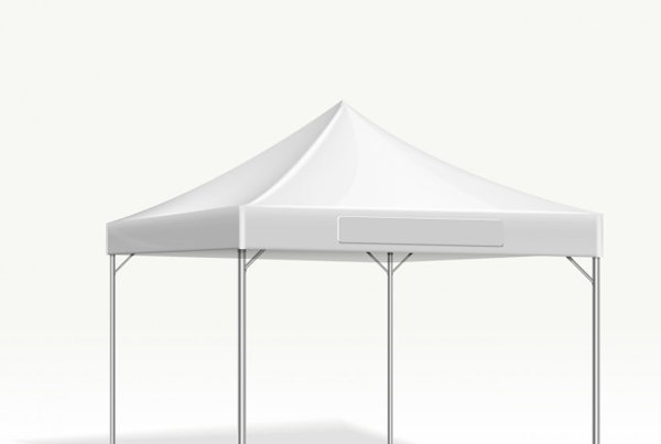 Mobile Marquee Tent for Trade Show Vector Mockup
