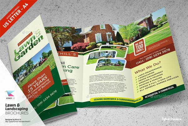 Modern Garden Services Brochure Template