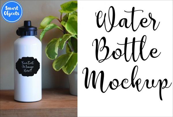 Modern Water Bottle Mockup