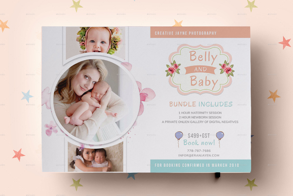 Newborn Photography Flyer Design