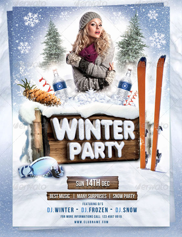 PSD Winter Party Flyer Template