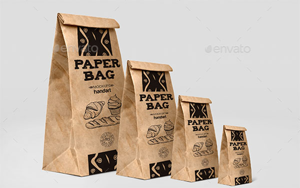 Paper Bag Mockup Design Template