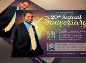 Pastor Anniversary Flyers