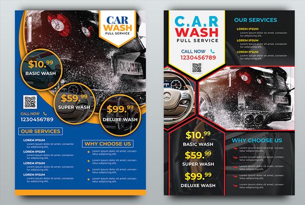 Photoshop Car Wash Flyer Templates