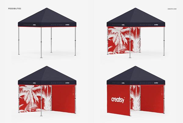 Pop Up Tent Mockup