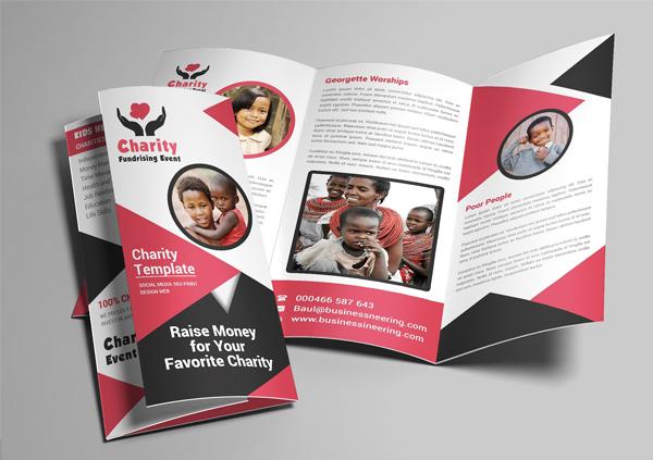 Printable Charity Trifold Brochure
