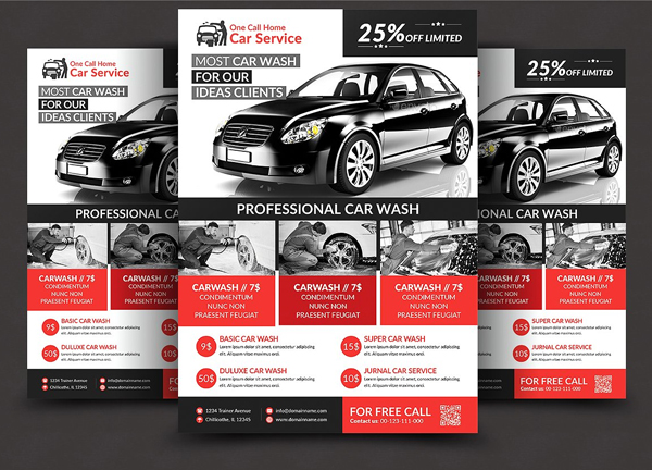 Professional Car Wash Flyer Design