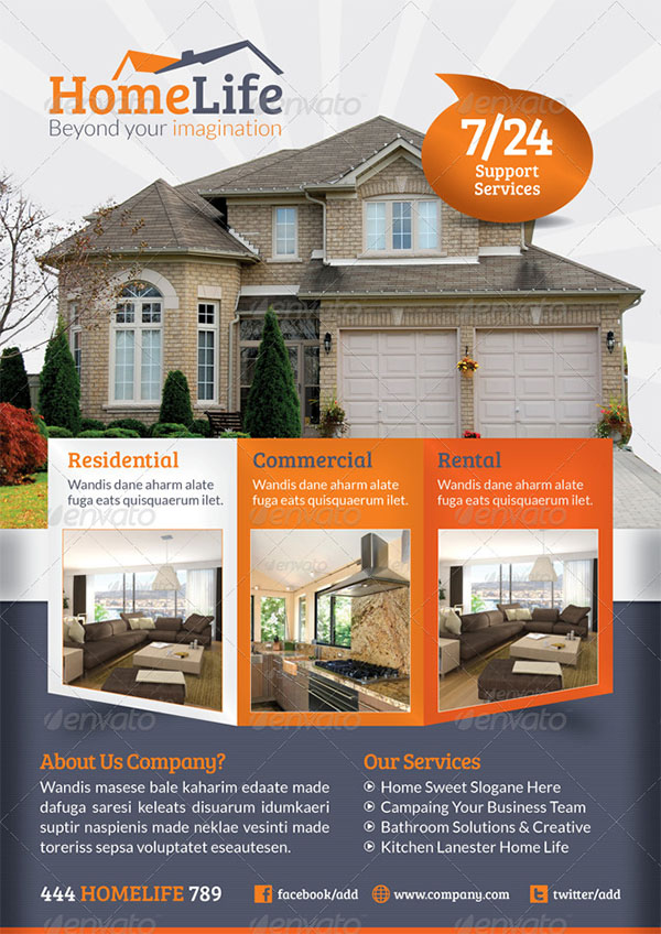 Real Estate Flyer Template Designs