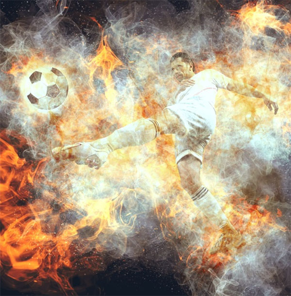 Real Fire & Smoke Photoshop Action