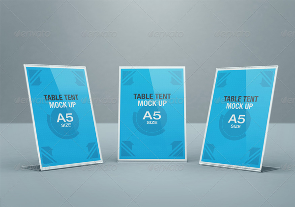 Realistic Table Tent Mock-up