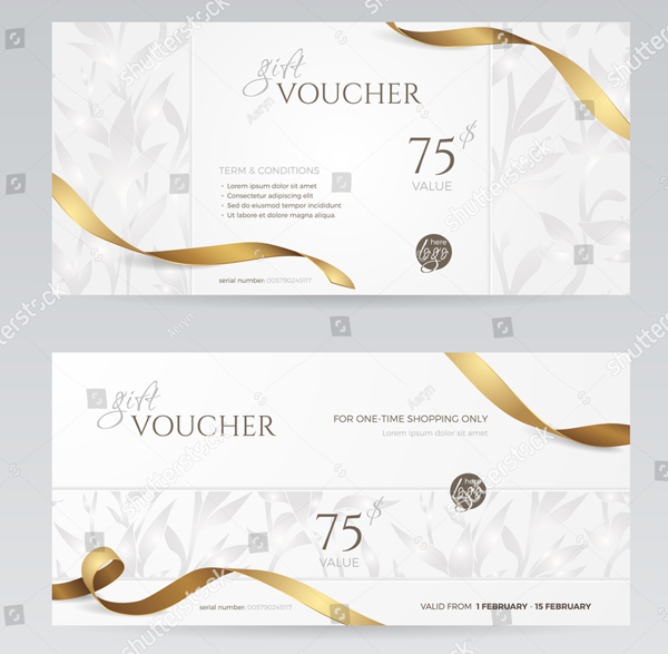 Set of Stylish Gift Voucher