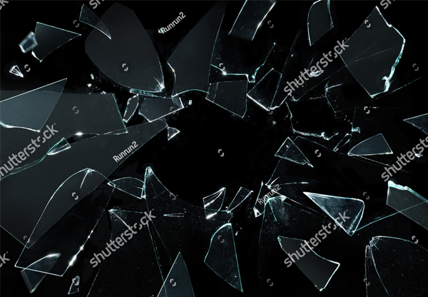 Shattered and Broken Glass Texture