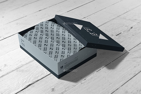Shoe Box Mock-up Design Template