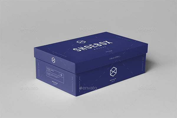 Shoe Box Mock-up Template