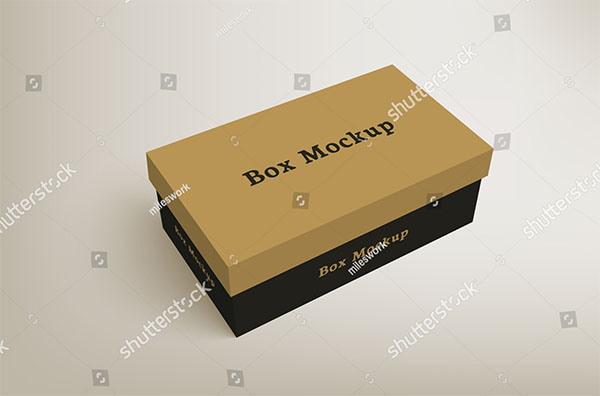 Shoes Product Packaging Mock-up Box