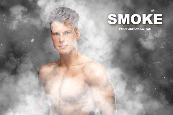 Smoke Photoshop Actions Template