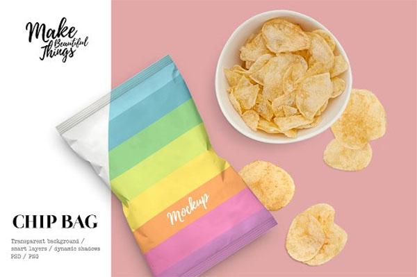 Snack Bag Mockup Design Template