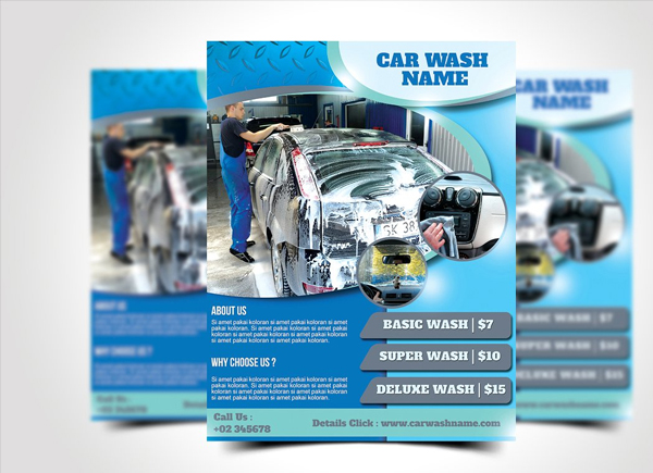 Super Car Wash Flyer Design