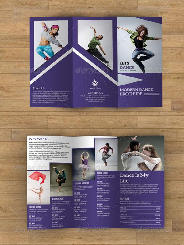 Trifold Brochure Dance Studio Template