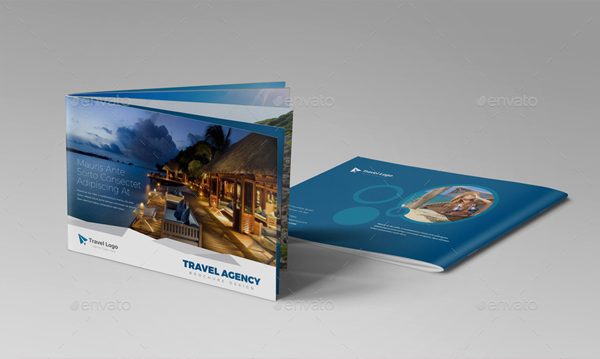 Unique Modern Travel Agency Brochure Catalog Design Template