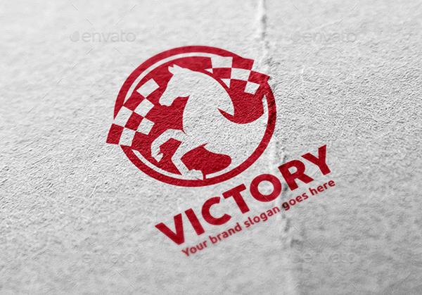 Victory Horse Logo Design