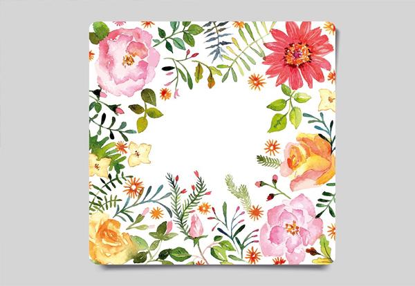 Watercolor Greeting Card Design Template