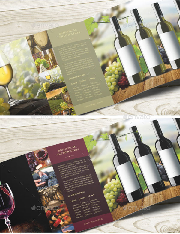 Wine Brochure and Catalogue