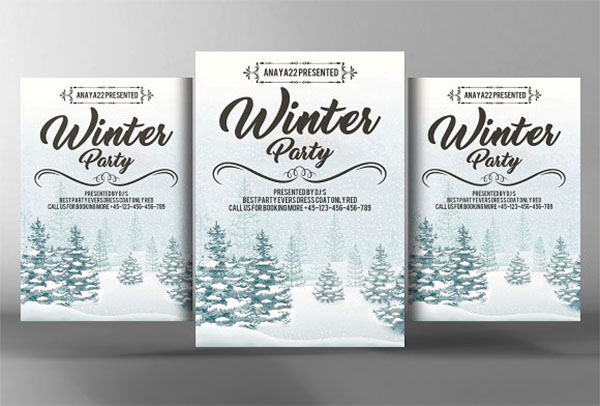 Winter Festival Flyer Poster