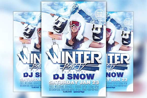 Winter Party Club Flyer Template