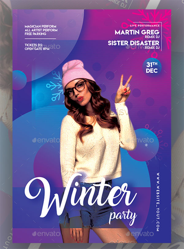 Winter Party Flyer Templates