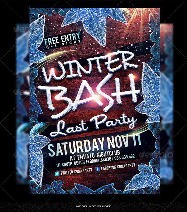 Winter Party PSD Flyer Template