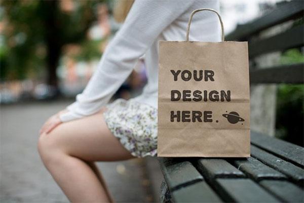 Paper Bags Mockups Set