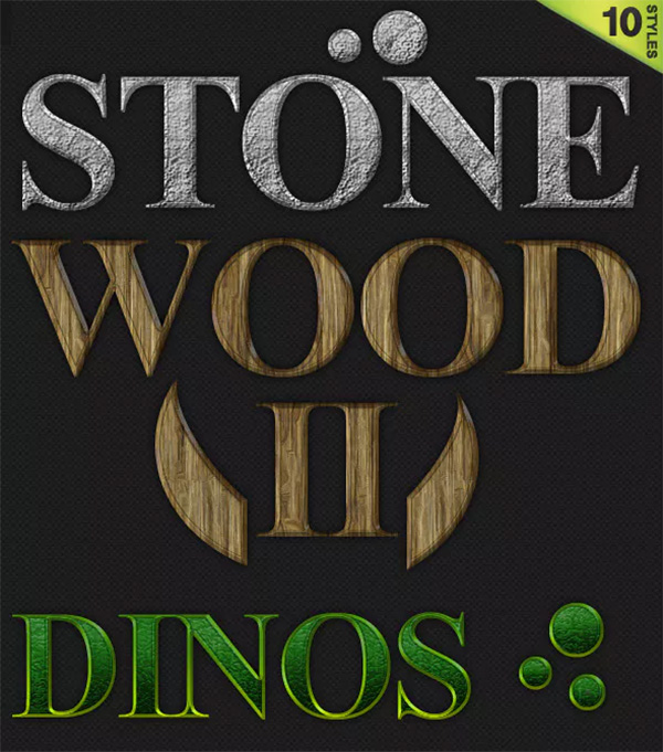 10 Quality Wood Texture & Text Styles