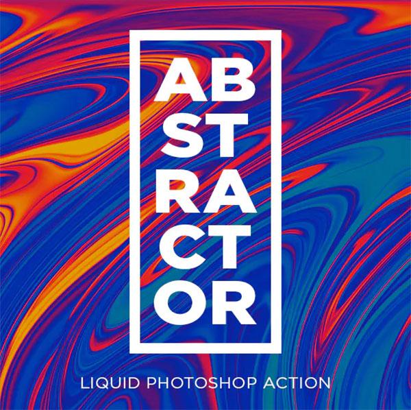 Abstractor Liquid Photoshop Action