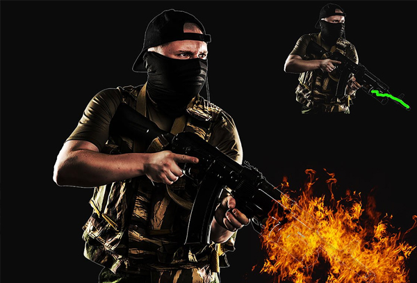 Amazing Effect of Fire Photoshop Action Template