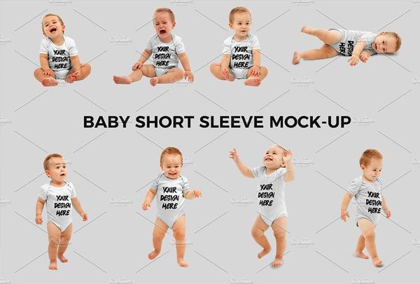 Baby Short Sleeve Mock-up